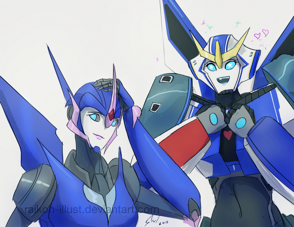 Strongarm meeting Arcee by Raikoh-illust
