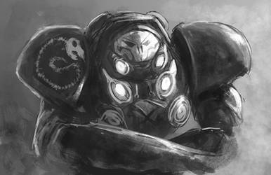 Raynor Jim Sketchpaint by RaikohIllust