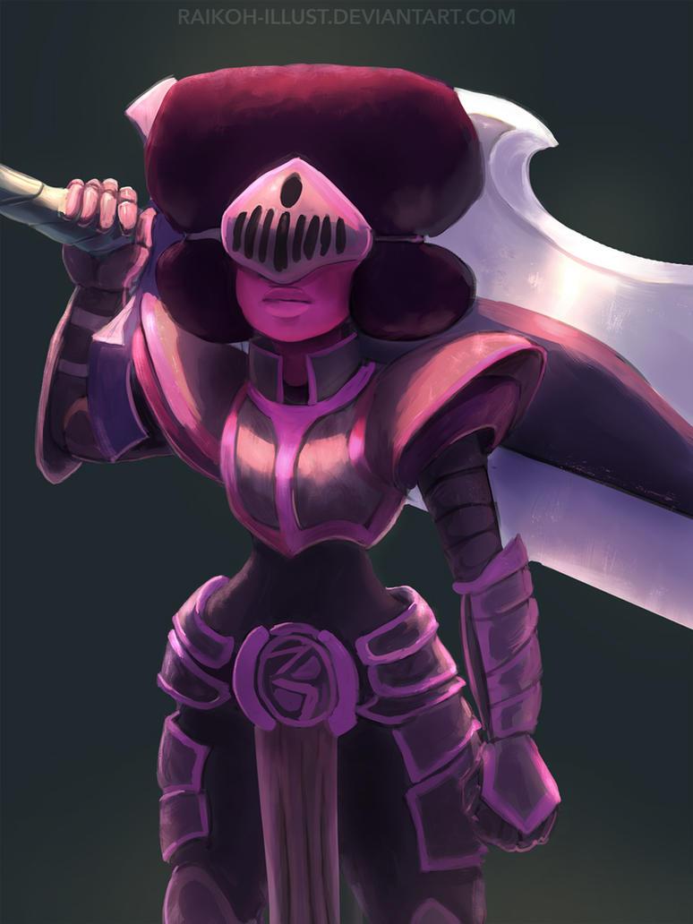 Armored Gems - Garnet by Raikoh-illust