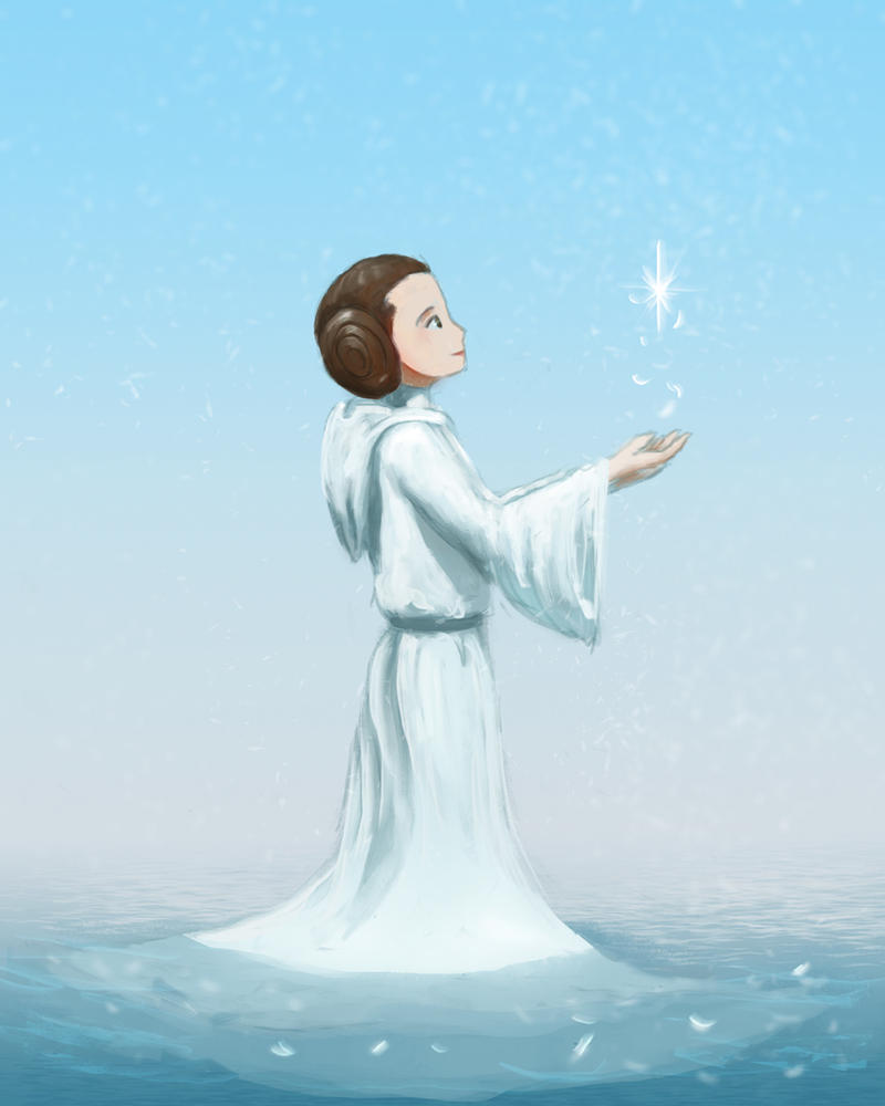 Carrie Fisher tribute by Raikoh-illust