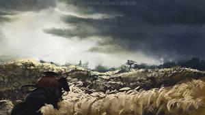 Ghost of Tsushima study 1 by RaikohIllust