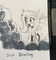 INktober Day 6 Drooling. by RaikohIllust