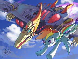 Commission - Swoop and Dash by RaikohIllust
