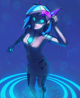 Cyber-DJ-PON3 by RaikohIllust