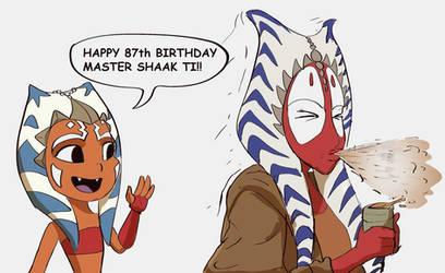 Ahsoka says Happy Birthday