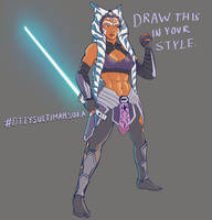 Draw this in your style- Ultimate Ahsoka