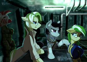Fallout Equestria OCs by WildViolet-M