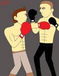 Resident Evil-Piers vs. Jake boxing match 5 by izzyartistic1