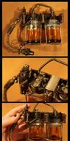 Steampunk Bunsen Battery