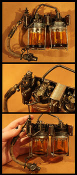 Steampunk Bunsen Battery