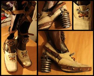 Steampunk Portal Boots by batman-n-bananas