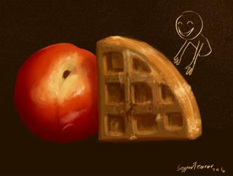 Peachy Waffles feeeed meeee! by seyyartedorov