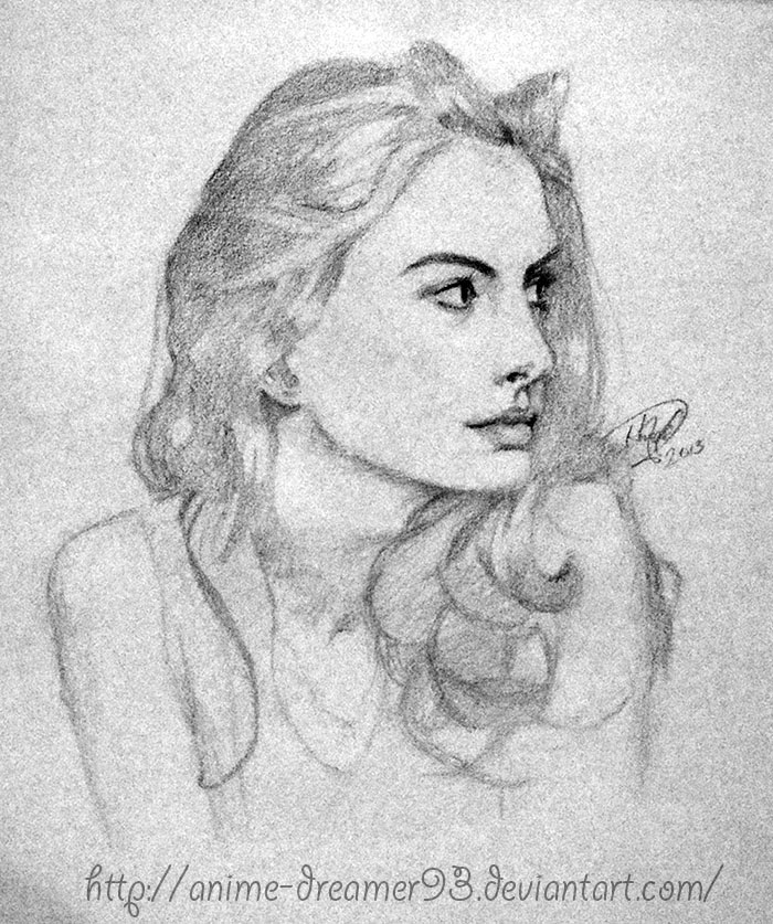 Anne Hathaway Drawing: Anne Hathaway By Anime-Dreamer93 On DeviantArt