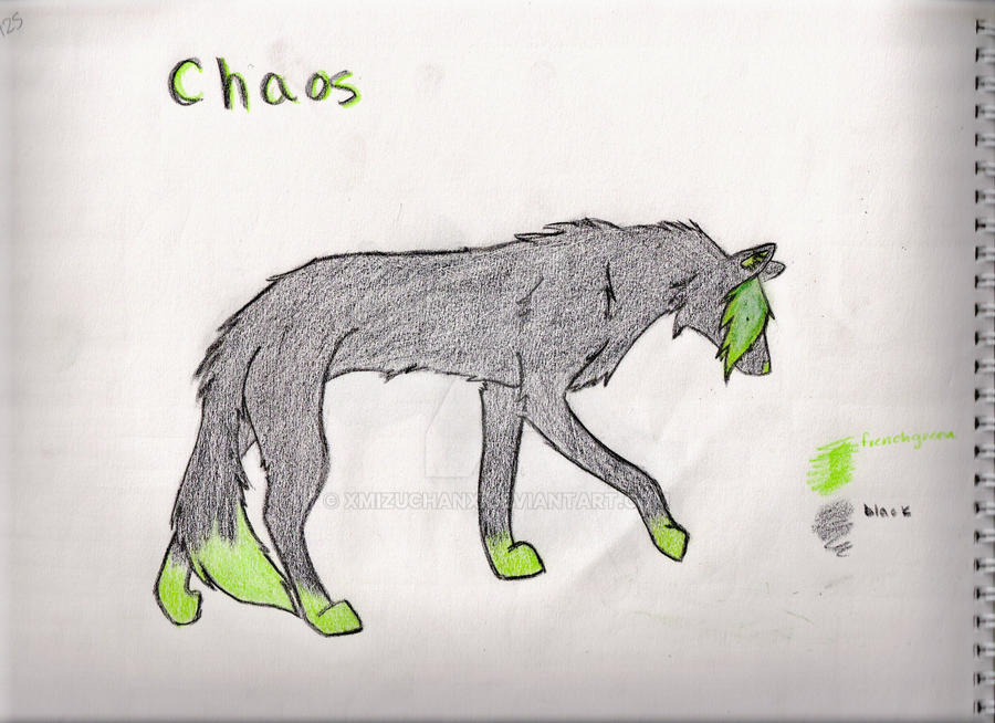 Chaos ref sheet thingy by xMizuchanx