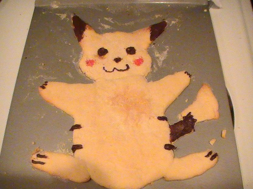 pikachu cookie is ready by xMizuchanx