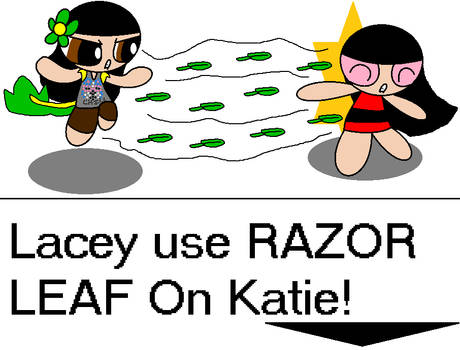 Snivy Lacey (Me) use RAZOR LEAF