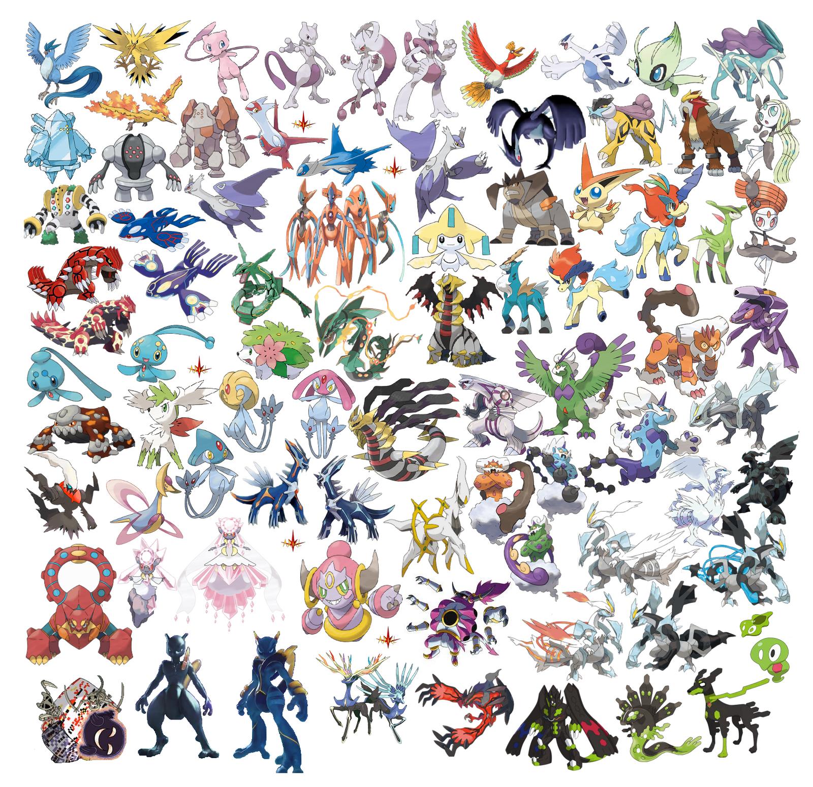 pokemones legendarios by N0variel on DeviantArt