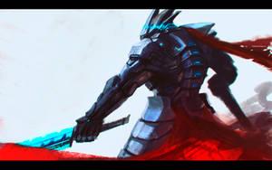cyber_ninja_sketch by GeorgeVostrikov