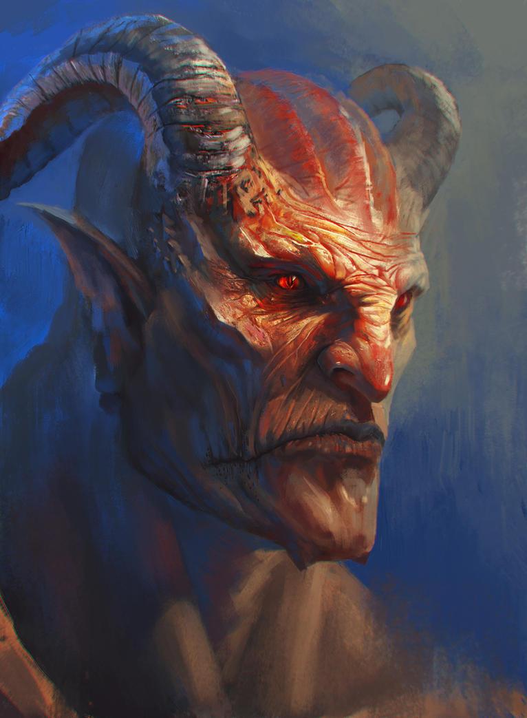 demon face by GeogreVostrikov