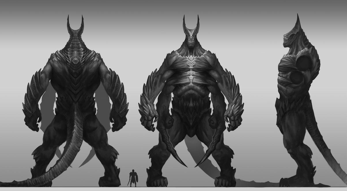 das schwarze monster by GeogreVostrikov