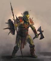ork warrior by GeorgeVostrikov
