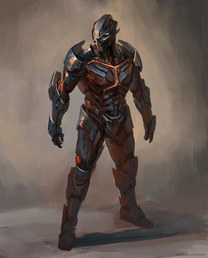 some battle suit concept by GeorgeVostrikov