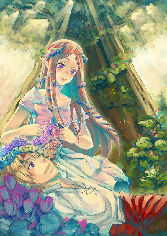 COMMISSION: Flower Rain by Celsa