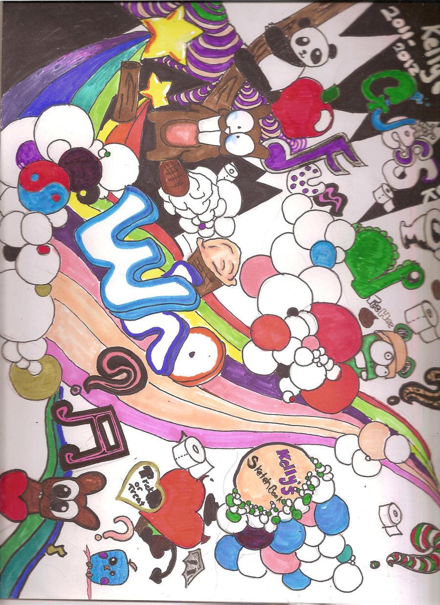 My Art Book Cover : My sketch book cover page by blackrockshota on deviantart