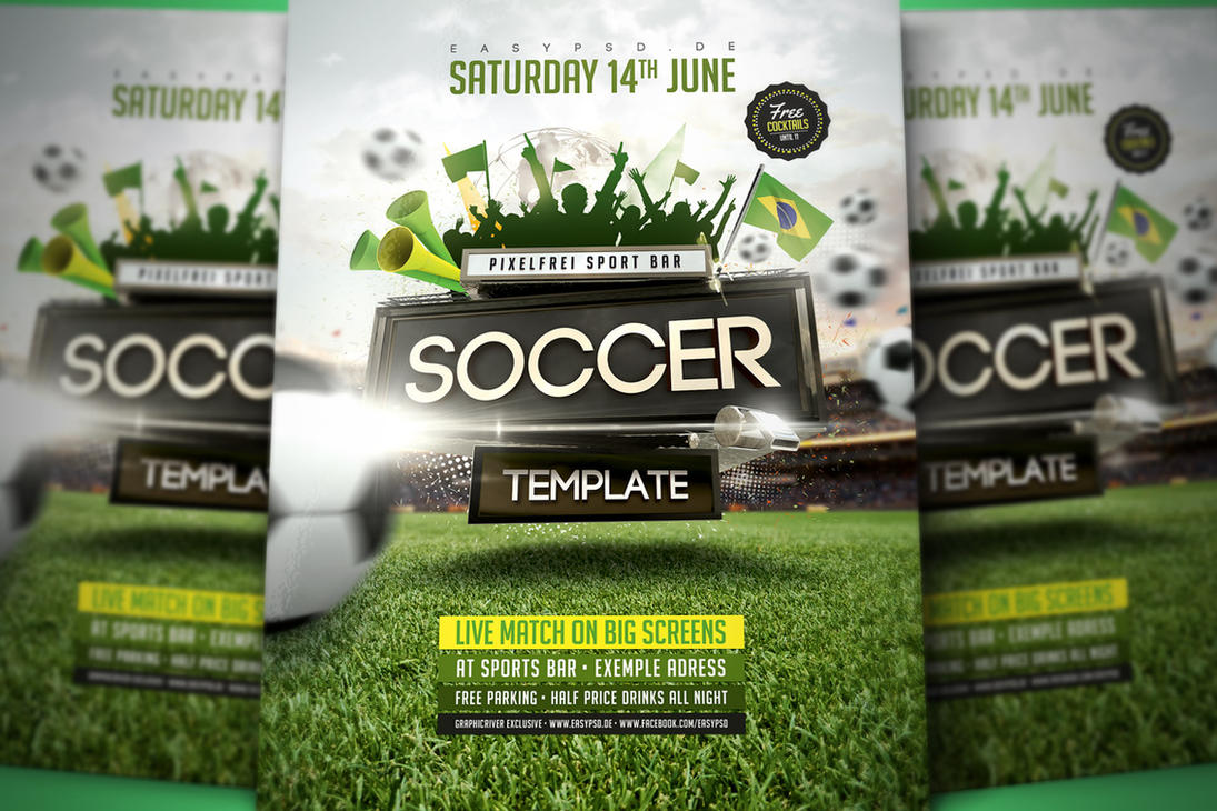 Soccer Flyer Template by pixelfrei on DeviantArt – Soccer Flyer Template