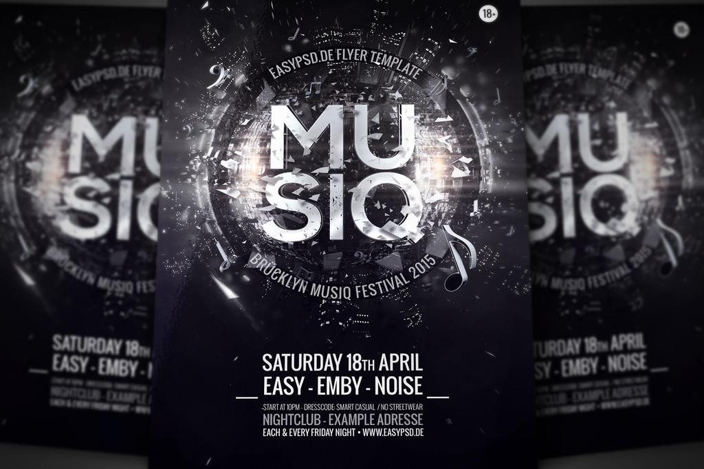 Musiq Flyer Template by pixelfrei