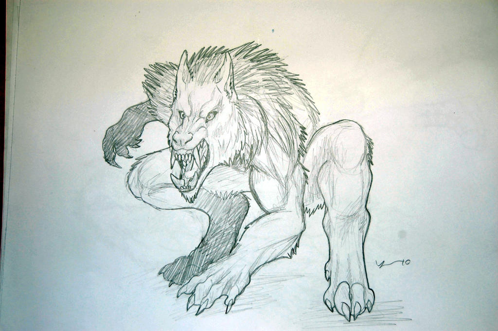 easy drawings of werewolves - photo #18