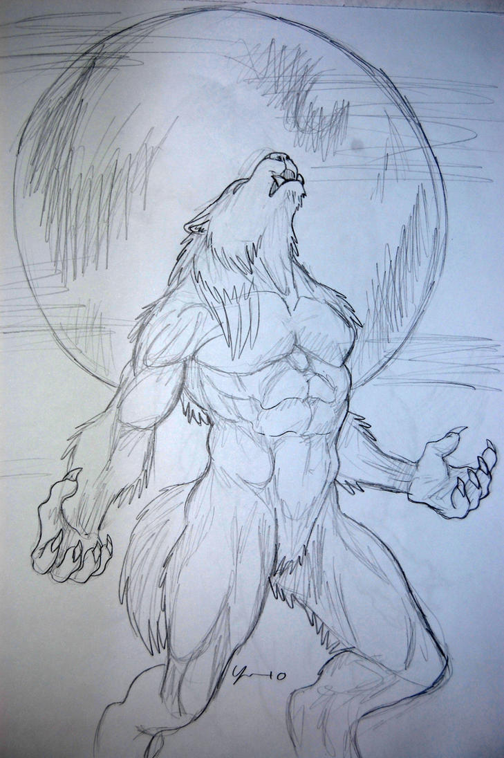 easy drawings of werewolves - photo #4