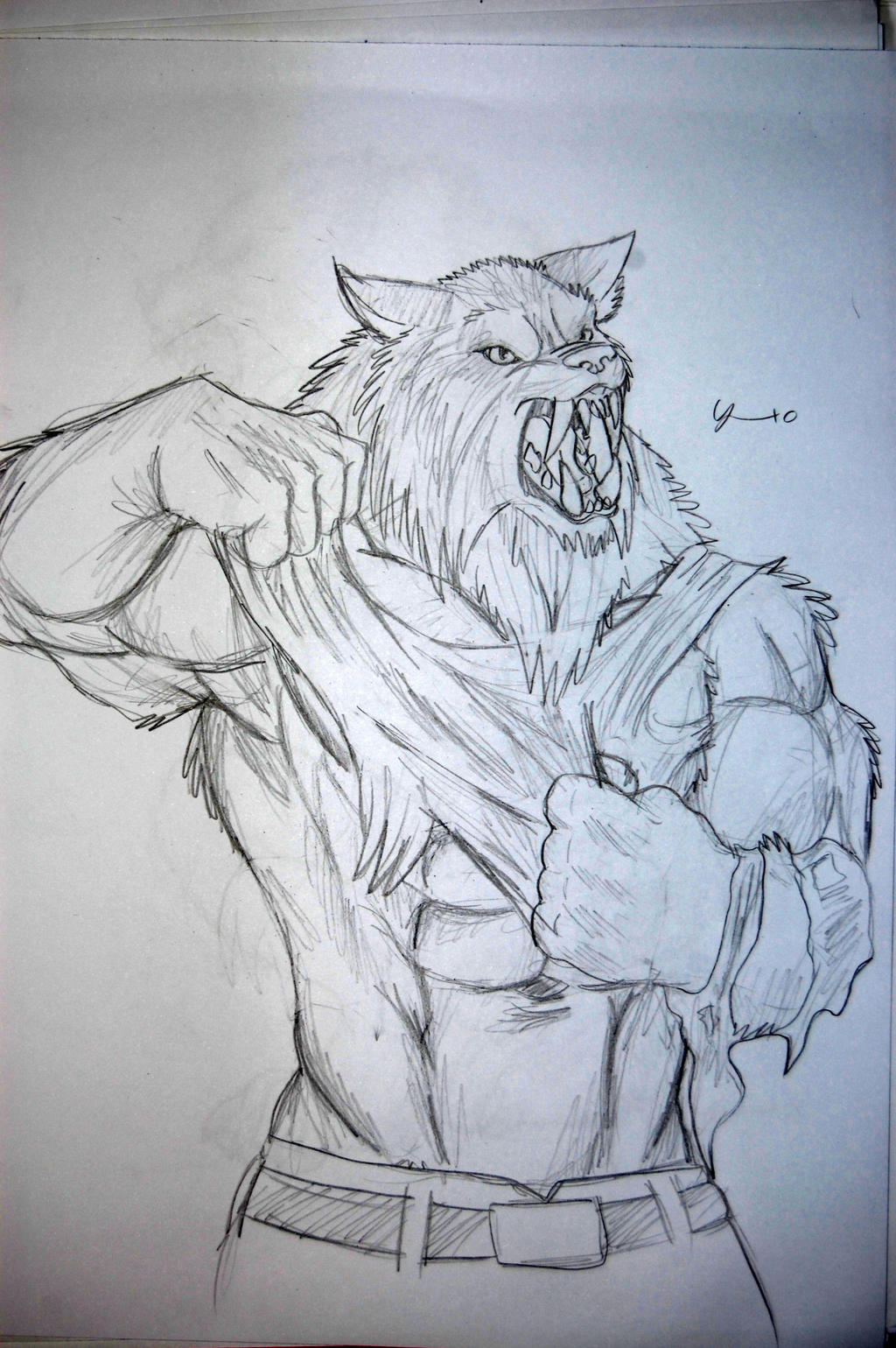 easy drawings of werewolves - photo #37