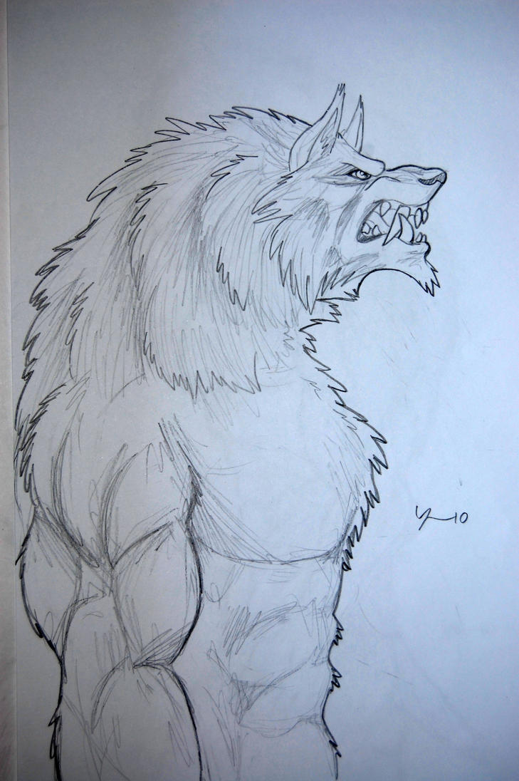 easy drawings of werewolves - photo #13