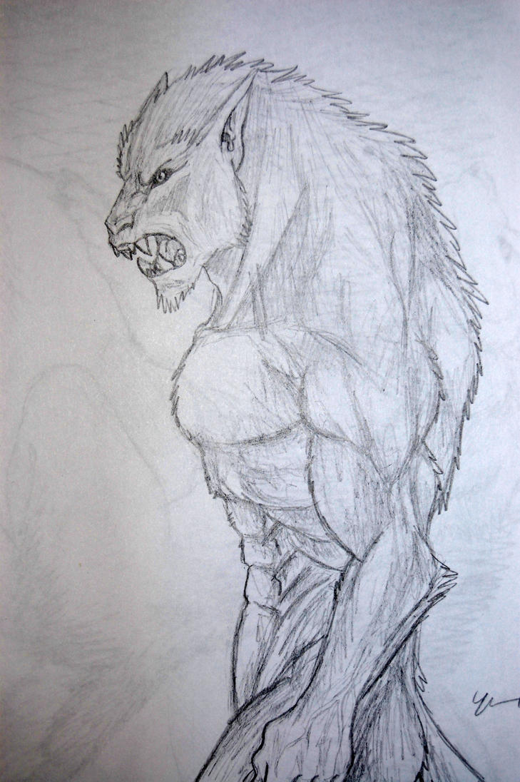 easy drawings of werewolves - photo #6
