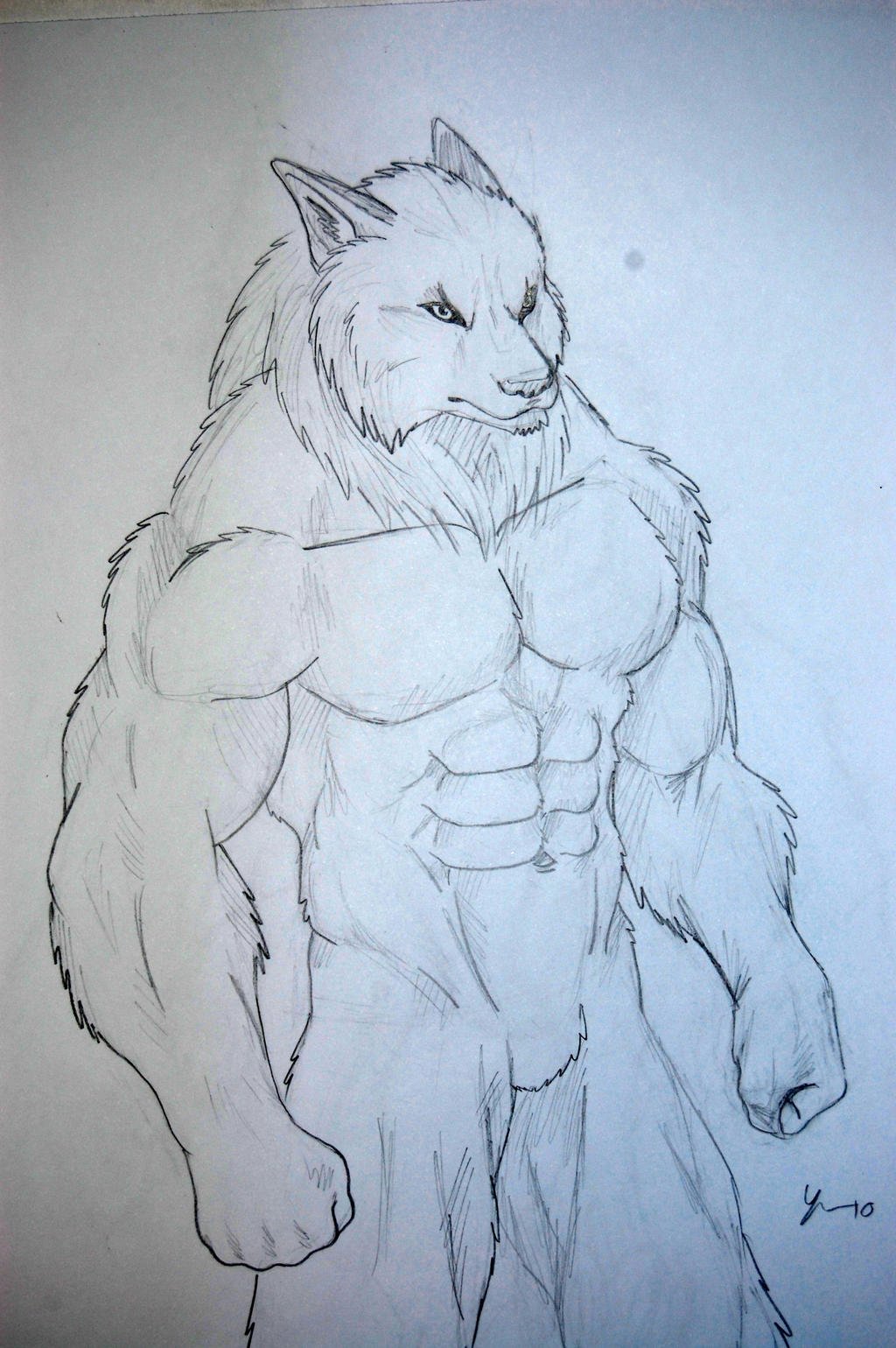 easy drawings of werewolves - photo #2