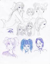 Doodle: Ladies by ghostsymbol