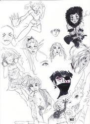 Doodle: Heroes by ghostsymbol