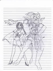 Doodle: Kimahri and Yuna by ghostsymbol