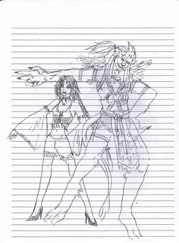 Doodle: Kimahri and Yuna