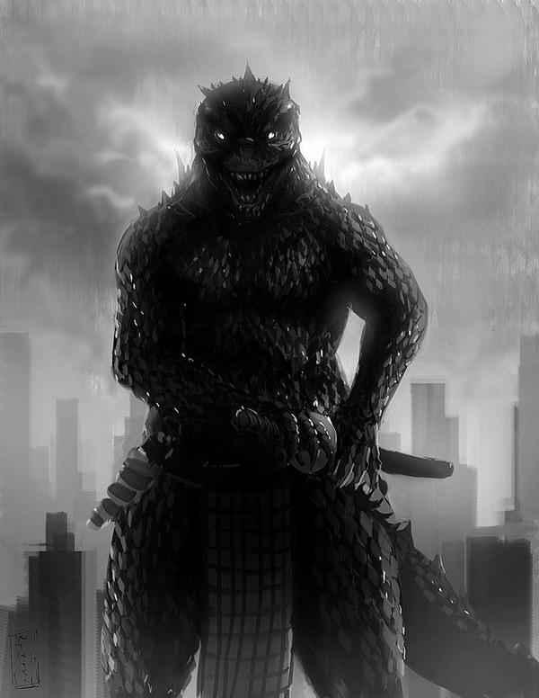 Godzilla Samurai by kusanagimotoko100