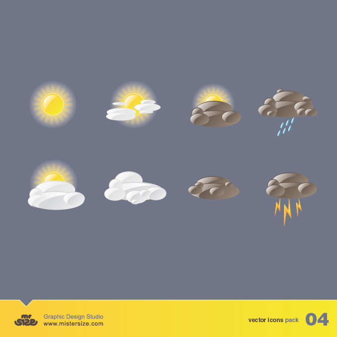 Weather Vector Icons Pack 04