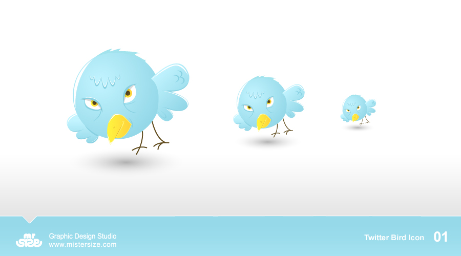 Twitter Bird Icons 01 by sizer92