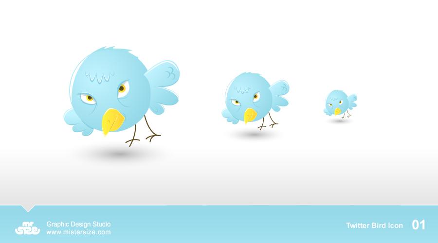 Twitter Bird Icons 01