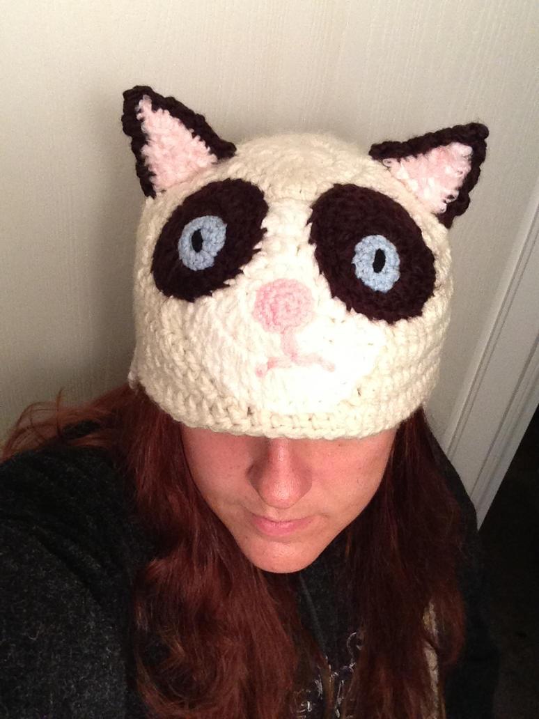 Grumpy Cat Crochet Hat Pattern Free : Grumpy Cat Hat by silverwordz on DeviantArt