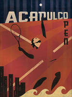 Acapulco Tennis Poster by MartinWickstrom