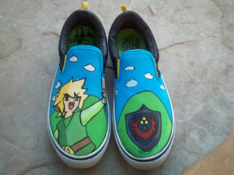 custom handpainted canvas shoes sold by drawing me