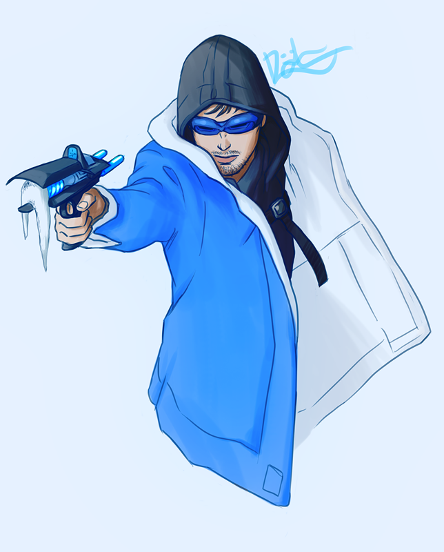 Len Snart is Captain Cold by Harseik