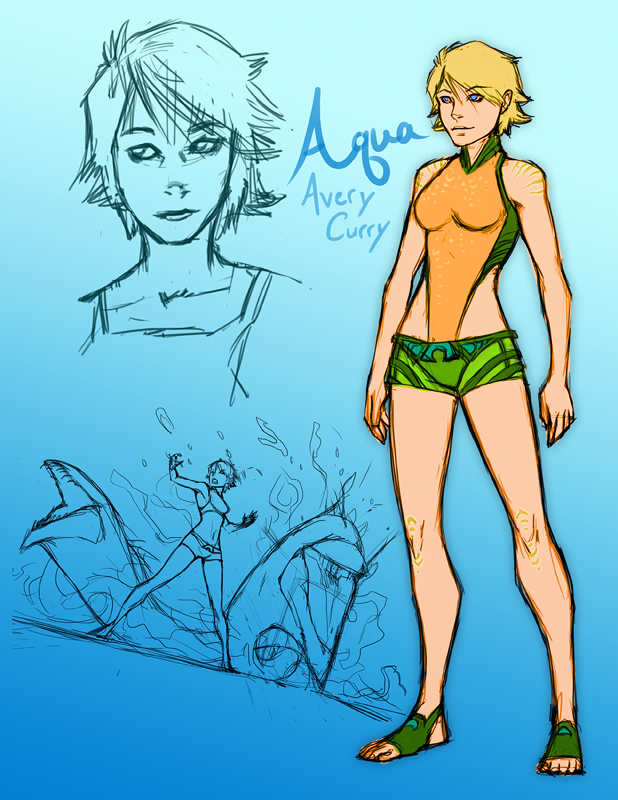 Avery Curry / Aqua Concept by Harseik