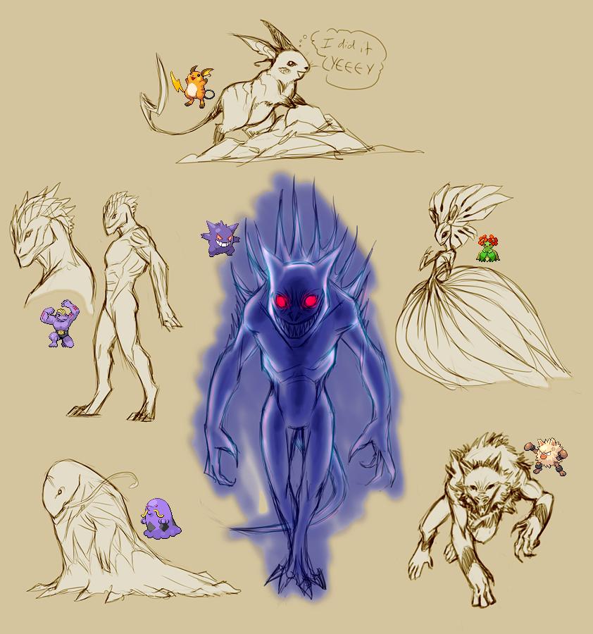 Pokemanz Art Dump by Harseik
